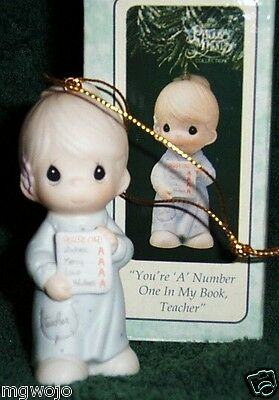 Precious Moments 150142 Ornament You're A Number One In My Book Teacher NEW