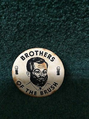 Vintage Antique Brothers Of The Brush Pinback Pin Button