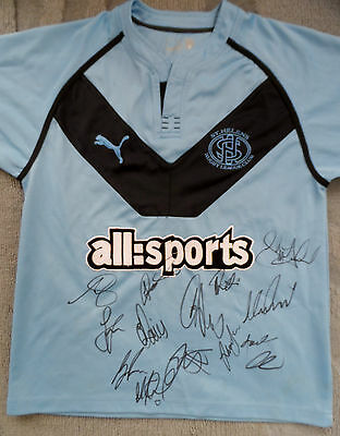 ST HELENS RFC Shirt Hand Signed by 2016 Squad - COA - Rugby - 14 Autographs