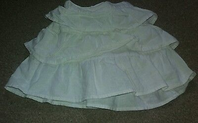 girls age 18 to 24 months white next skirt