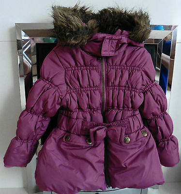 Girls Hooded, Quilted British Home Stores Sweet Millie Coat, Age 3 Years