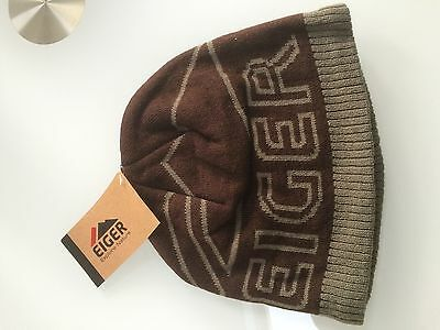 Brand new Eiger Knitted brown Beanie Hat