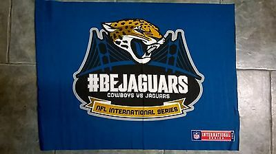 Jacksonville Jaguars '#BEJAGUARS' flag: NFL International Series London 2014