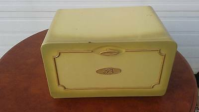 Vintage Retro Yellow Tin Made in Canada Bread Box