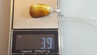 Antique Vintage Natural Baltic Egg Yolk Butterscotch Amber Pendant.Nr4
