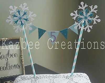 Frozen Inspired Snowflake Birthday Cake Topper/Bunting Any Age