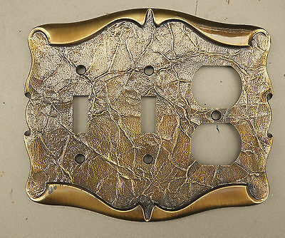 Vintage Amerock Carriage House Double Switch /receptacle Plate Cover Combo