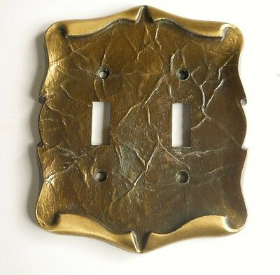 Vintage Amerock Carriage House Double Switch Plate Cover