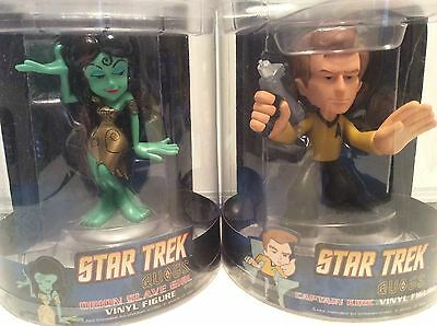 Quogs Funko vinyl figure, Star Trek Kirk and  Orion green slave girl