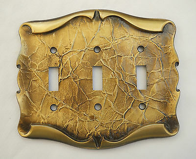 Vintage Amerock Carriage House Triple Switch Plate Cover