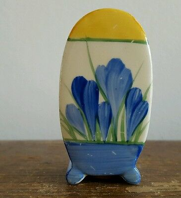 Clarice Cliff Bonjour Shape Blue Crocus Pepper Pot