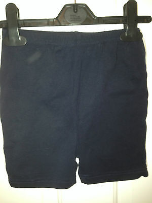 Black sports tight fit shorts - age 6 - VGC