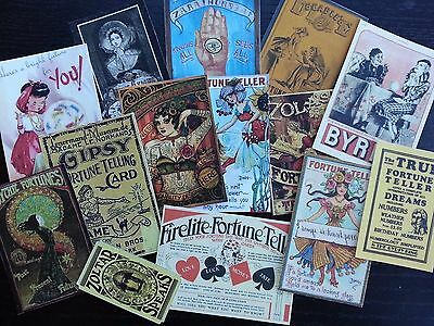 BB30B -- Lot of 14 Vintage Gypsy Fortune Teller #2 DIE CUTS for CARD MAKING