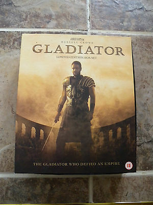 RARE Gladiator Limited Edition VHS Video Box Set, incs CD and Making of Booklet