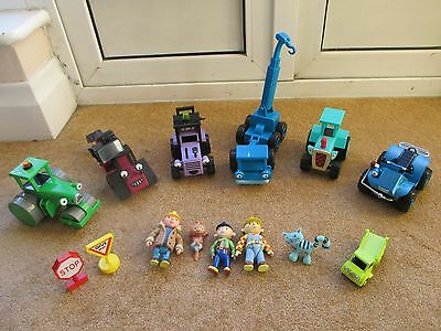Bob The Builder Vehicle Bundle Some Rare- Most Friction Powered & Figures