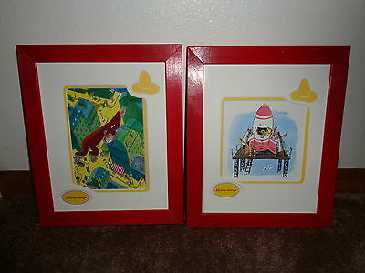 Curious George Framed Prints Lot of 2