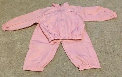 Girls Tracksuit 2-3 Years Pink Shell suit Outfit Clothes