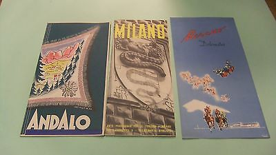 Old/vintage Travel Brochures for Italy, Milano, Andalo & Morano etc.
