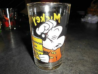 verre anciens mickey mouse