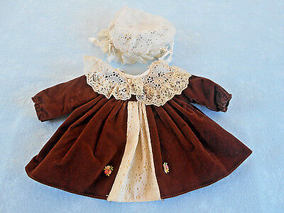 Vintage Dress & Hat Doll Clothing