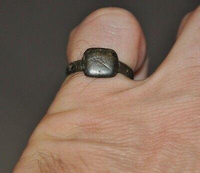 Ancient Authentic Late Roman Empire Legionary Wearable Bronze Ring Sz 7.5 - 7.75