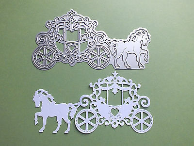 1 Small Craft Cutting Die HORSE AND CARRIAGE Scrapbooks Greeting Cards Wedding