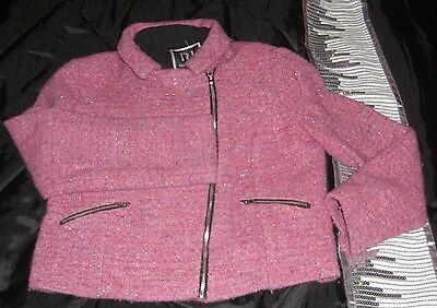 Pink/purple sparkle girls jacket by River Island age 12 years