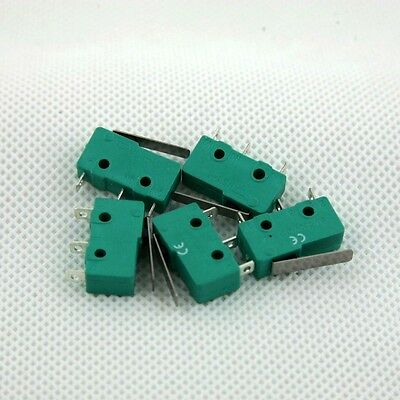 5 Pcs. Microswitch 17mm Lever Actuator Micro Switch SPDT 3 Pole ON-ON 5A 250VAC