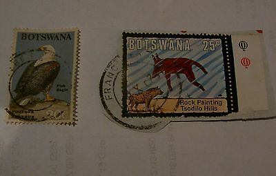 Old Botswana Postage Stamps X2