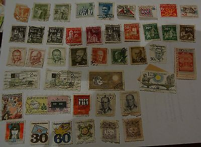 Job Lot Collection Old Czech Czechoslovakia Postage Stamps