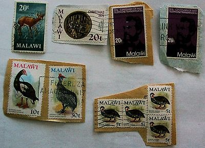 Job Lot Collection Old Vintage Malawi Stamps