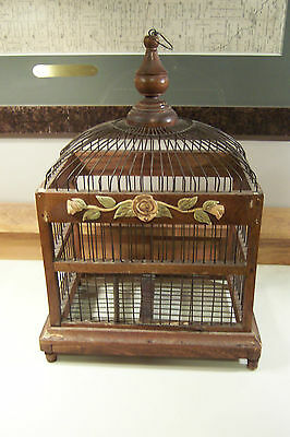 LARGE ANTIQUE Wood Wire VICTORIAN French birdcage vintage decor birdhouse