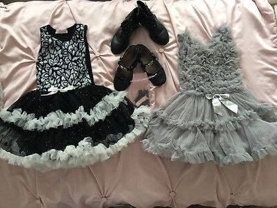 Christmas set of tutu dresses with matching Lelli Kelly and H&M shoes size 4-5