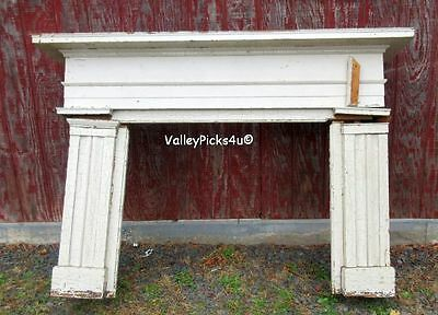 Antique 1800s House Architectural Salvage Colonial Wood Fireplace Mantel