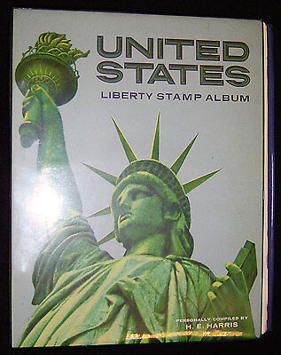 Harris Liberty United States Album with pages to 1970 Contains about 700 Stamps