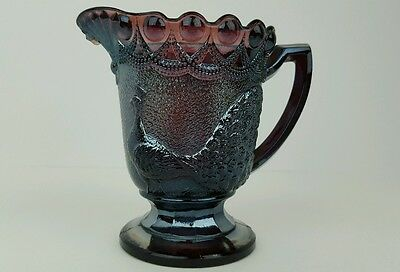 Carnival Glass Westmoreland Strutting Peacock Amethyst Creamer No Lid Chipped