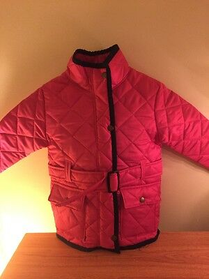 Wholesale Joblot Of New Girls Pink Quilted Jacket Age 3/4 5/6 Years