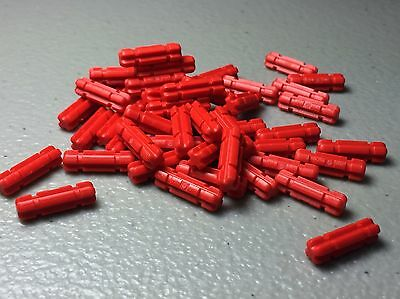 Axle 2 Notched Red Lego 32062 x10 Technic