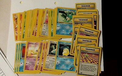 Pokemon Gym challenge 1st edition near full common uncommon set + 8  rare cards