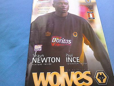 Wolves v leicester fa cup programme from 2003