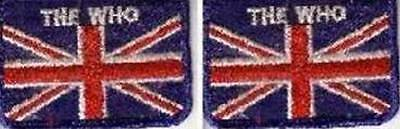 Who The Who Set of 2 British Flag Embroidered Vintage Patches from the 70's