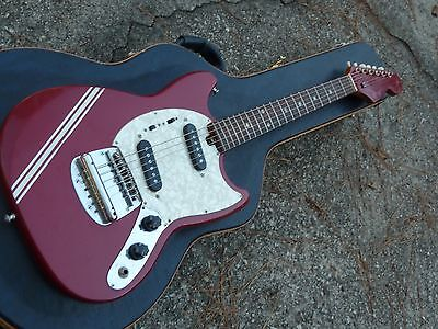 1960s Japan Made Mustang Style Guitar Competition Stripe Great Player