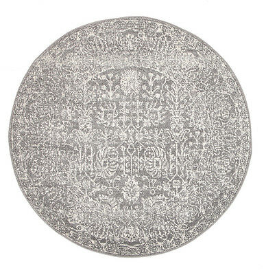 NEW Homage Grey Transitional Round Rug