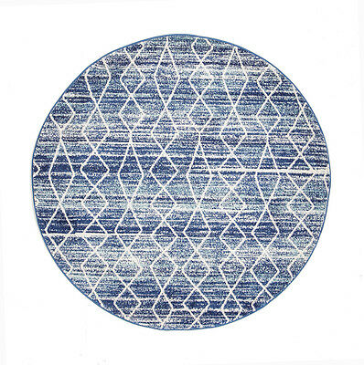 NEW Culture Blue Transitional Round Rug