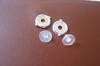 Really Useful Spares Repro Scalextric RUHL3 BENTLEY CHROME BEZEL AND LENS (PAIR