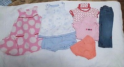 Girl Size 12 Months Clothes 8 Pieces Spring Summer