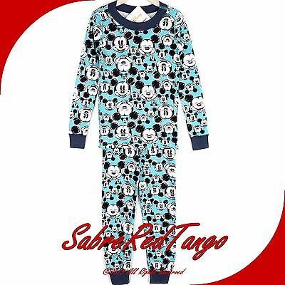 Nwt Hanna Andersson Organic Long Johns Pajamas Mickey Mouse Blue Mickey 130 8