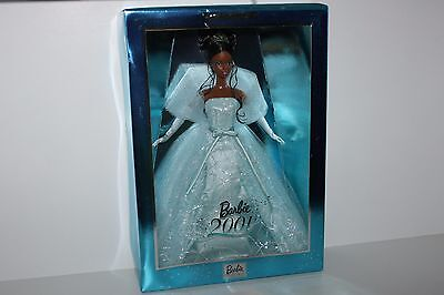 Mattel Barbie Doll African American 2001 Collectors Edition New Year