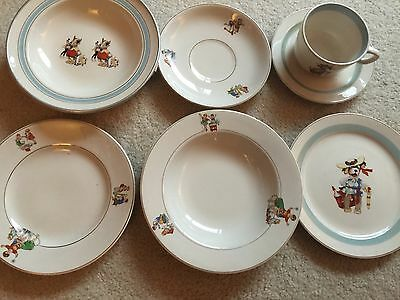 Vintage Child's Baby Bowl Dishes Plates Cup Saucer