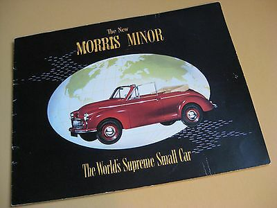 1950 MORRIS MINOR DELUXE COLOR SALES CATALOG / 20 pages